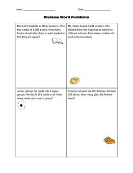 Divison Word Problems