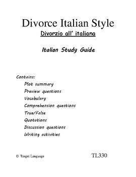 Divorce Italian Style-Italian Study Guide