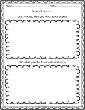 Divorce Workbook Freebie Sampler