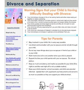 Divorce and Separation Parent Handout