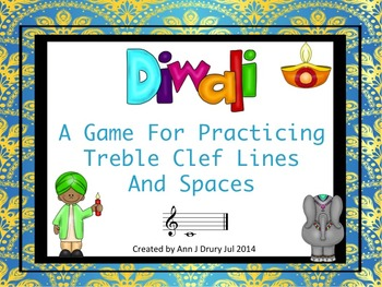 Diwali - A Game for Practicing Treble Clef Lines and Spaces