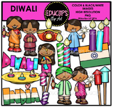 Diwali Clip Art Bundle {Educlips Clipart}