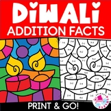 Diwali Color by Code Addition | Diwali Color by Number Addition
