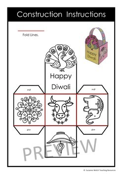 Diwali Craft Activity – Make a Paper Basket