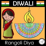 Diwali Craft - Rangoli Diya