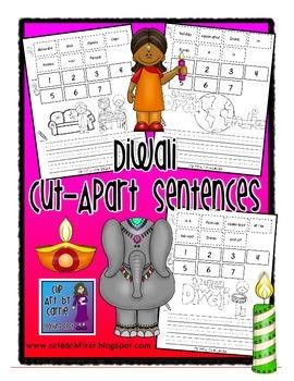 Diwali Cut Apart Sentences