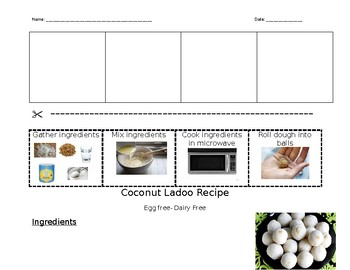 Diwali Coconut Ladoo recipe sequence & recipe