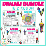 Diwali Reading Comprehension and Activities BUNDLE