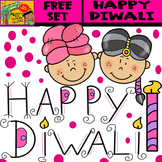 Diwali - Free Clipart Set - 6 Items