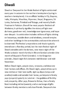Diwali Handout