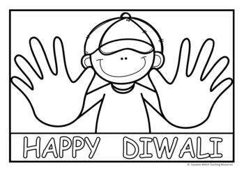 Diwali  -  'Henna Hands' art activity