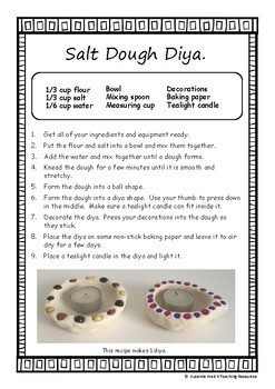 Diwali Craft Activity – Make a Salt Dough Diya
