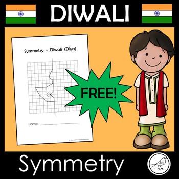 Diwali Math Activity - Reflective Symmetry - FREE