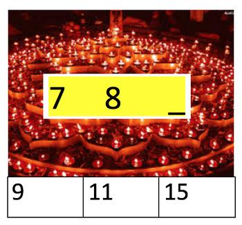 Diwali Math Clip Cards