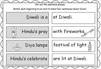 Diwali Math and Literacy centers and activity resource pack