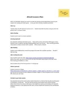 ★★Diwali (Oct 19th) - Diwali for High-School & ESL Students (Fall Festivals)★★