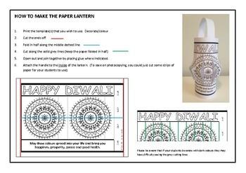 Diwali  -  Paper lantern craft