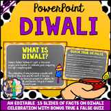Diwali PowerPoint Editable (All About Diwali Facts with Qu