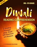 Diwali Reading Comprehension for 3rd, 4th and 5th Grade
