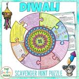 Diwali Reading Scavenger Hunt Puzzle Poster