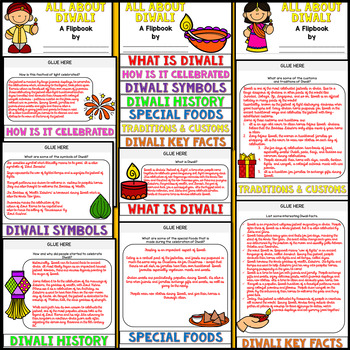 Diwali Research Flipbook (All About Diwali Facts Activities)