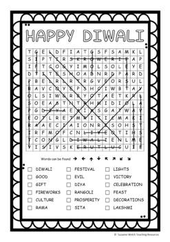 Diwali  -  Word Search  -  FREEBIE