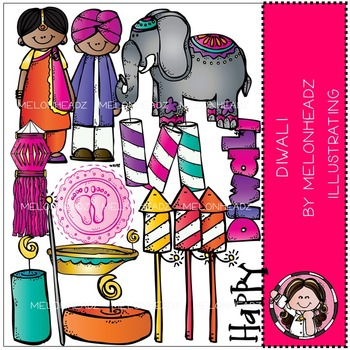 Melonheadz: Diwali clip art - COMBO PACK
