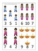 Diwali themed Count and Clip preschool math cards.  Daycare math.