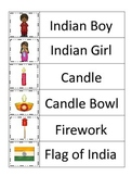 Diwali themed Word Wall theme for preschool and daycare teachers.  Circle time.
