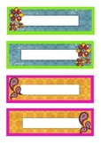 Diwali themed classroom labels