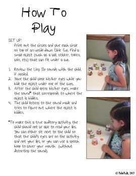 Dixie Cup Ling Six Sounds Game for Children with Hearing Loss