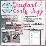 Dixieland Jazz / Early Jazz PowerPoint and Notes