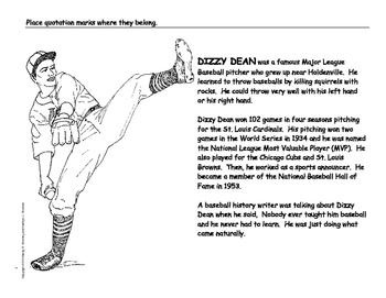 Dizzy Dean Biography Activity