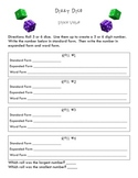 Dizzy Dice Math Game