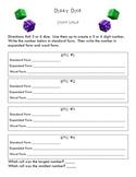 Dizzy Dice Math Game