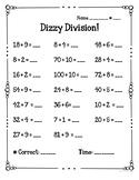 Dizzy Division Fact Fluency Quizzes