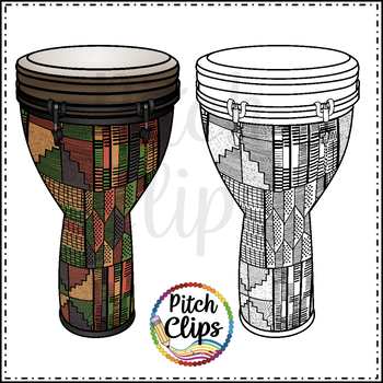 Djembe Drums clipart (Clip art) - Commercial Use, SMART OK!