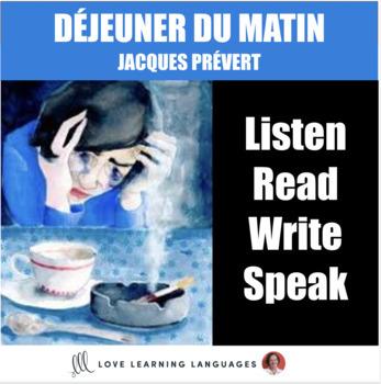French Poetry Lesson:  DÉJEUNER DU MATIN, Jacques Prévert
