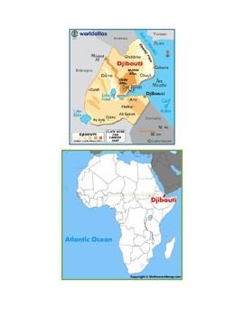 Djibouti Map Scavenger Hunt