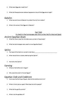 Dk Findout Webquest Egypt Mesopotamia