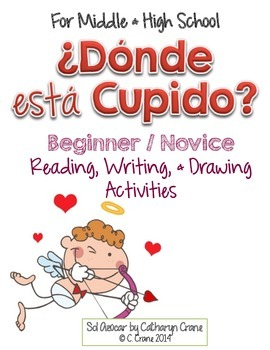 Spanish Valentine's Day Read and Draw - ¿Dónde está Cupido