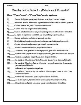 Donde esta Eduardo - Quiz Bundle for Chapters 1-5