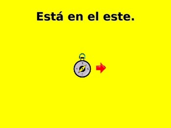 ¿Dónde está? Spanish Teaching Resources. PowerPoint: Points of Compass & Places.