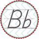 Dnealian Alphabet Manuscript Letter Badges