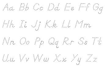 Dnealian Alphabet Tracing Mats