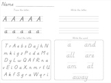 Dnealian Alphabet and Sight Word Tracing Beginning of School Year