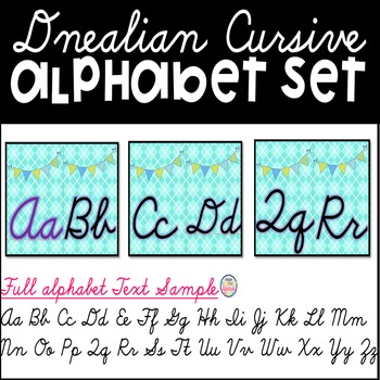 Dnealian Cursive Bulletin Board Set