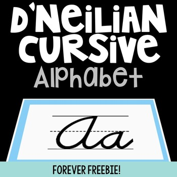 D'nealian Cursive Handwriting Alphabet Cards