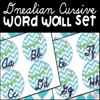 Dnealian Cursive Word Wall Labels