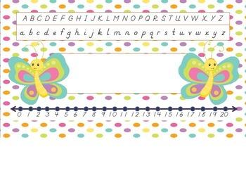 Dnealian Cute Bugs Nametag Labels